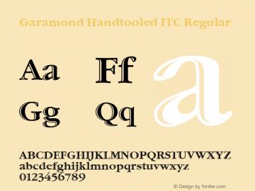 Garamond Handtooled ITC Regular Version 001.005 Font Sample