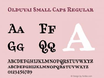 Olduvai Small Caps Regular Version 001.000 Font Sample