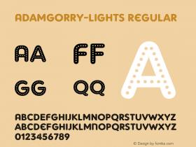 AdamGorry-Lights Regular OTF 1.000;PS 001.000;Core 1.0.29 Font Sample