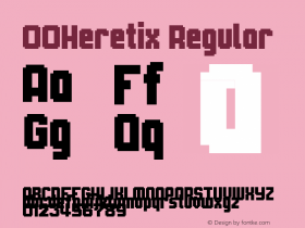 00Heretix Regular 1.00 Font Sample