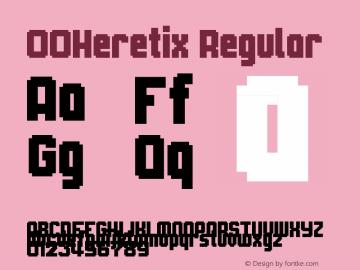 00Heretix Regular 1.00 Font Sample