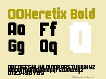00Heretix Bold 1.00 Font Sample