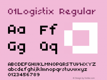 01Logistix Regular 1.00 Font Sample