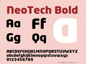 NeoTech Bold Version 1.000;PS 001.001;hotconv 1.0.38 Font Sample