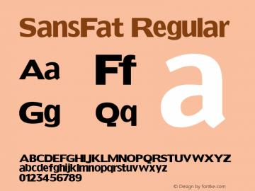 SansFat Regular 1.0 2004-06-03 Font Sample