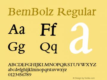 BemBolz Regular 1.0 2004-06-04 Font Sample