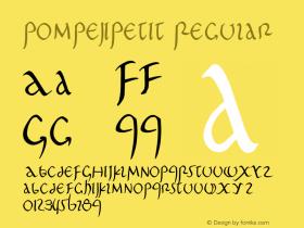 PompejiPetit Regular 1.0 2004-06-03 Font Sample