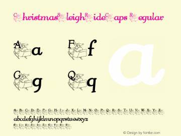 ChristmasSleighRideCaps Regular Perry Mason                 27 Nov 01 Font Sample