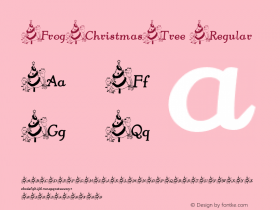 FrogChristmasTree Regular Perry Mason                 4 Dec 01 Font Sample