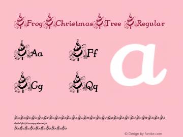 FrogChristmasTree Regular Perry Mason                 4 Dec 01 Font Sample