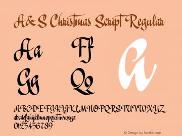 A&S Christmas Script Regular 1.0   www.signfonts.com Font Sample