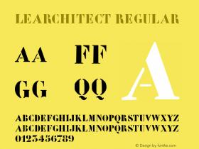 LeArchitect Regular 1.0 2004-06-06 Font Sample