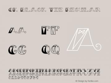 CK Black Tie Regular 8/9/01 Font Sample
