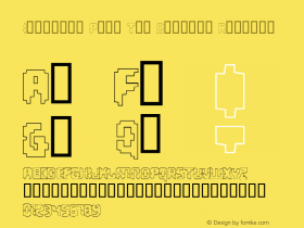 Invaders Part Two Outline Regular Macromedia Fontographer 4.1 1/10/01 Font Sample