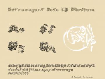 Extravagant Pete 3D Medium 001.000 Font Sample