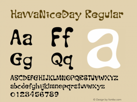 HavvaNiceDay Regular 001.000 Font Sample