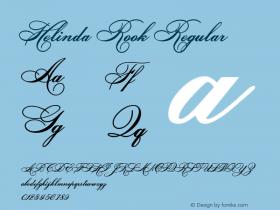 Helinda Rook Regular Version 3.0 8/11/99 Font Sample