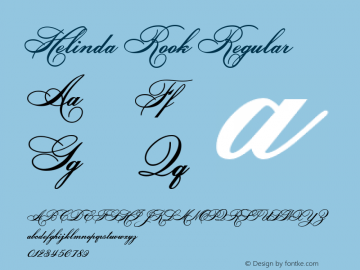 Helinda Rook Regular Version 3.0 8/11/99 Font Sample