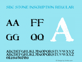 SBC Stone Inscription Regular Version 1.00 February 25, 2004, initial release Font Sample