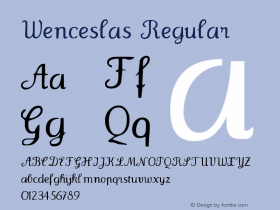 Wenceslas Regular 1.0 2004-06-08 Font Sample