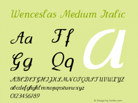 Wenceslas Medium Italic 1.0 2004-06-08 Font Sample