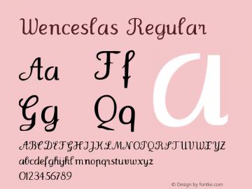 Wenceslas Regular 1.0 2004-06-08 Font Sample