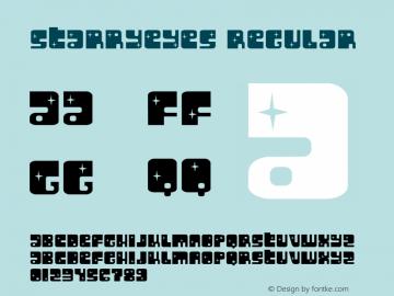 Starryeyes Regular Macromedia Fontographer 4.1.3 4/11/02 Font Sample