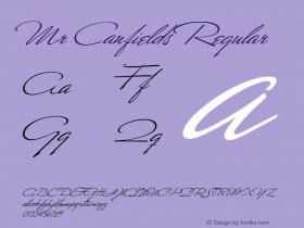 Mr Canfields Regular OTF 1.0;PS 001.000;Core 116;AOCW 1.0 161图片样张