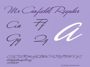 Mr Canfields Regular OTF 1.0;PS 001.000;Core 116;AOCW 1.0 161 Font Sample
