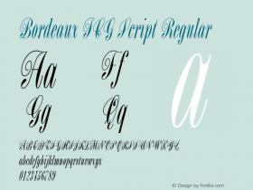 Bordeaux ICG Script Regular Altsys Fontographer 4.1 19/08/1996 Font Sample