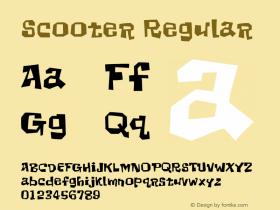 Scooter Regular 001.000 Font Sample
