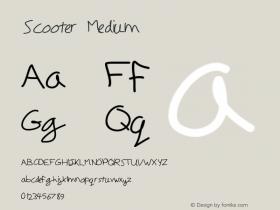 Scooter Medium Version 001.000 Font Sample