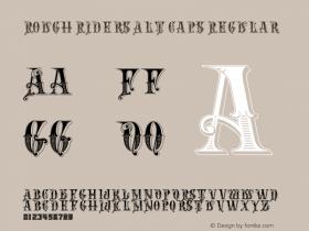 Rough Riders Alt Caps Regular 06/11/2004 Font Sample