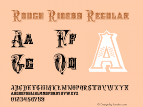Rough Riders Regular 1/30/02 Font Sample