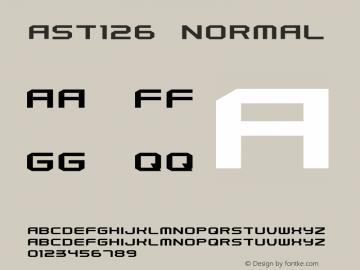 Ast126 Normal 1.0 Sun Apr 13 19:15:43 1997 Font Sample