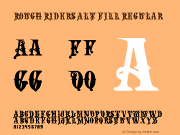 Rough Riders Alt Fill Regular 1/30/02 Font Sample