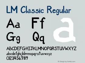 LM Classic Regular Version 1.00 April 28, 2004, initial release Font Sample