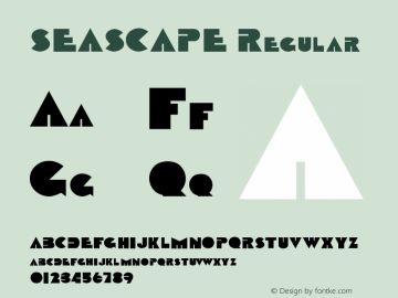 SEASCAPE Regular (C) 1992. ATTITUDE, INC. Font Sample