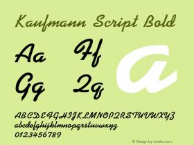 Kaufmann Script Bold 001.000 Font Sample