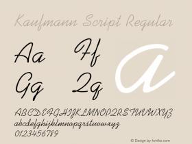 Kaufmann Script Regular 001.000 Font Sample