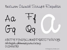 Nevison Casual Script Regular Altsys Fontographer 3.5  11/25/92 Font Sample