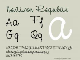 Nevison Regular 001.000 Font Sample