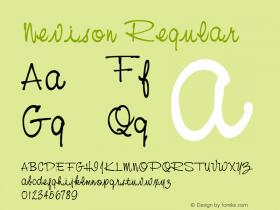 Nevison Regular Altsys Fontographer 3.5  11/18/92 Font Sample