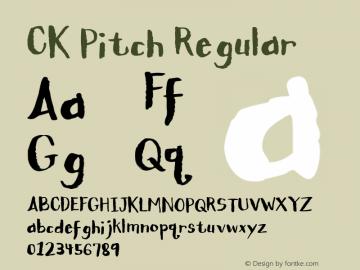 CK Pitch Regular Macromedia Fontographer 4.1 3/17/2004 Font Sample