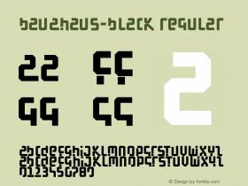 BauAHaus-Black Regular 1.0 2004-06-12 Font Sample