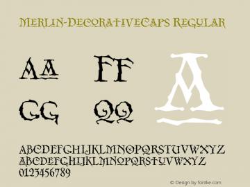 Merlin-DecorativeCaps Regular OTF 1.000;PS 001.000;Core 1.0.29 Font Sample