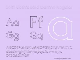 Serif Gothic Bold Outline Regular Altsys Fontographer 3.5  11/25/92 Font Sample