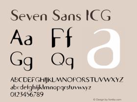 Seven Sans ICG Macromedia Fontographer 4.1 02.06.99 Font Sample