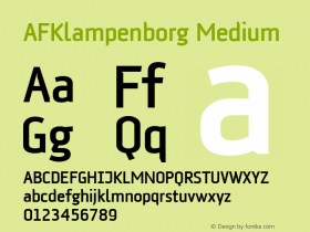 AFKlampenborg Medium Version 001.000 Font Sample
