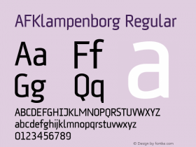 AFKlampenborg Regular Version 001.000 Font Sample